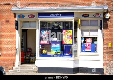 Martin's Newsagents, High Street, Odiham, Hampshire, England, United Kingdom - Stock Photo