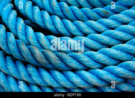 Rope from a ship for backgrounds - Stock Photo