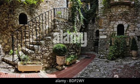 Eze Village, Cote d'Azur, Alpes Maritimes, France, Europe - Stock Photo