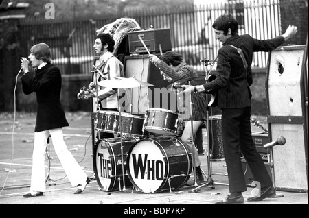 THE WHO  performed five songs for a US TV programme recorded at the Duke of York's Barracks, Kings Road, Chelsea - Stock Photo