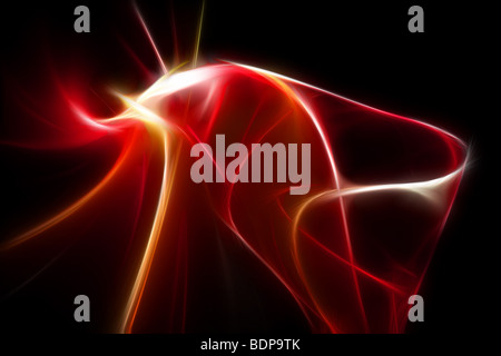 abstract red 3d illustration - Stock Photo
