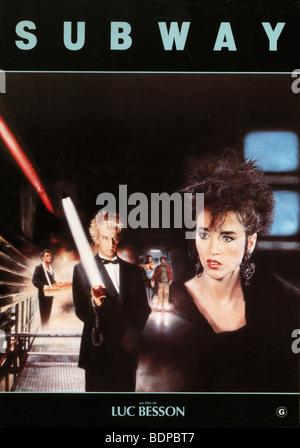Subway   Year: 1985   Christophe Lambert, Isabelle Adjani   Director: Luc Besson  Movie poster - Stock Photo