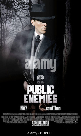 Public Enemies Year : 2009 Director : Michael Mann Christian Bale Character poster - Stock Photo