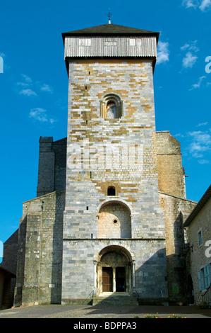 SAINTE MARIE CATHEDRAL IN SAINT BERTRAND DE COMMINGES, HAUTE GARONNE, FRANCE - Stock Photo