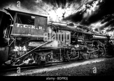 An old locomotive engine - Stock Photo