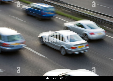 Cars on motorway. UK - Stock Photo