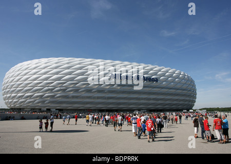 The Allianz Arena in Munich, Germany - Stock Photo