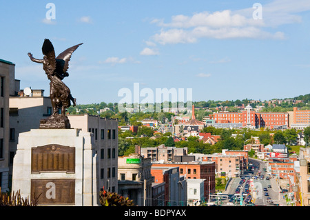 View of the City of Sherbrooke Eastern Townships Quebec Canada - Stock Photo