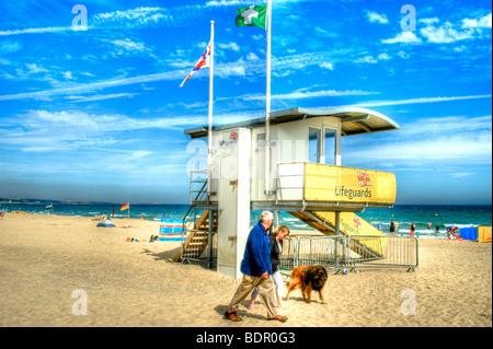 A beach watch tower - Stock Photo