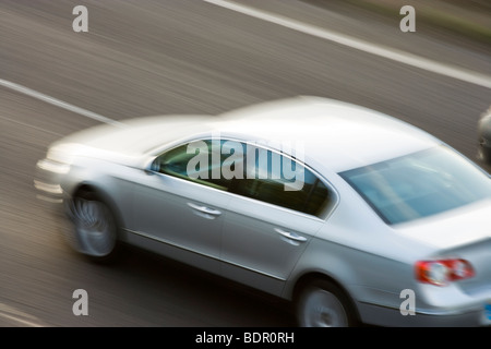 Car on motorway. UK - Stock Photo