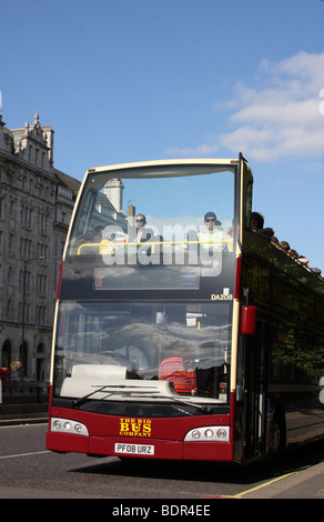 The Big Bus Company open top sightseeing tour bus in London, England, U.K. - Stock Photo