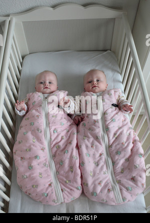 Zwillinge, 6 Monate alt - Stock Photo