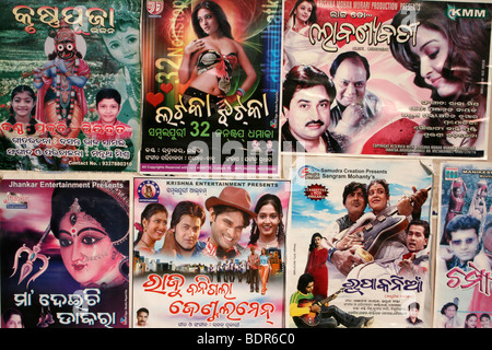Colourful Bollywood Flyers In A Rural Town In Orissa, India