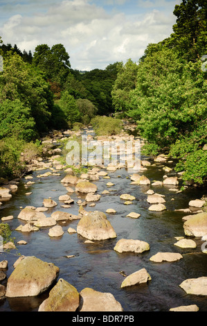 Summer afternoon, Elan River, Powys, Mid Wales UK - Stock Photo