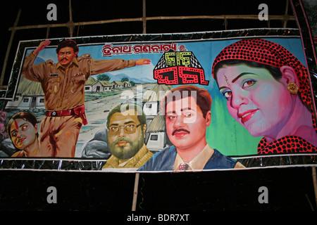 Colourful Bollywood Film Poster In Puri, Orissa, India