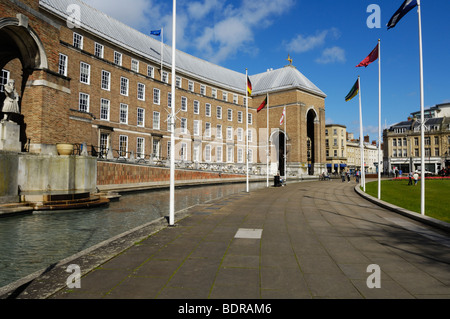 The City Hall, formerly known as the Council House, at College Green Bristol England United Kingdom - Stock Photo