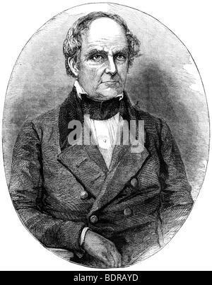 Daniel Webster, 19th century American statesman (c1880). Artist: Unknown - Stock Photo