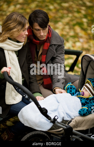 A family in a park - Stock Photo