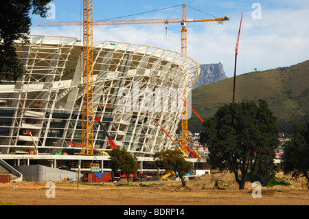 Soccer World Championship 2010, Greenpoint Soccer Stadium under construction, Cape Town, South Africa - Stock Photo
