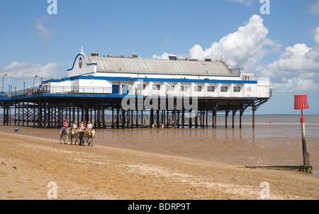 Cleethorpes beach on the Lincolnshire coast - Stock Photo