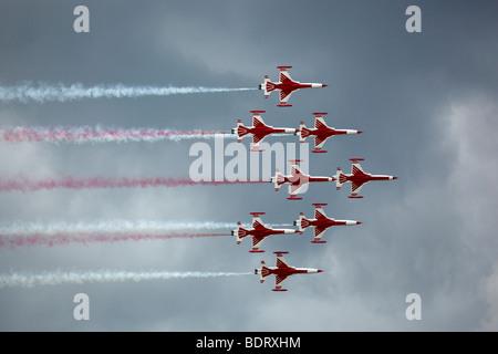 Turkish Stars aerobatic team, Turkey, Airpower 2009 in Zeltweg, Austria, Europe - Stock Photo
