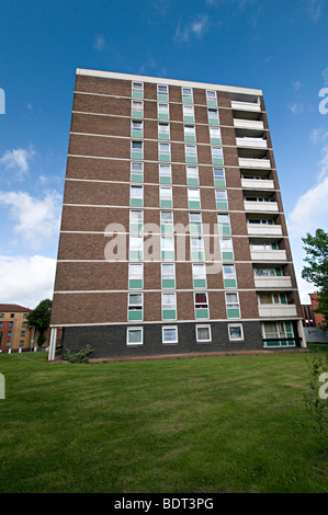 Wolverhampton council flat high rise block and social housing - Stock Photo