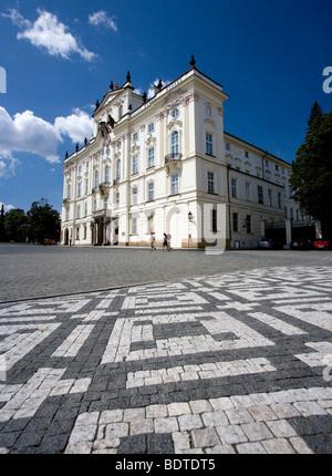 The Archbishops Palace on Hradcany square at Mala Strana in Prague, Czech Republic. - Stock Photo
