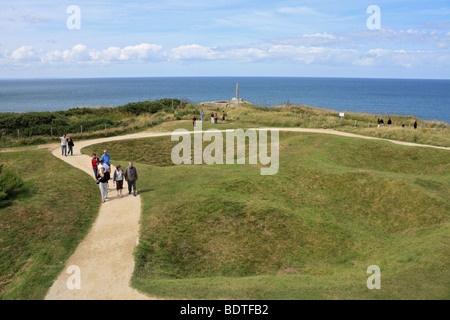 Pointe du Hoc, Normandy France. German battery captured by US Rangers, D-Day 6th June 1944 during Op Overlord - Stock Photo