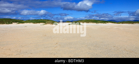 Beautiful beach at Scarista, isle of Harris, Outer Hebrides, Scotland - Stock Photo