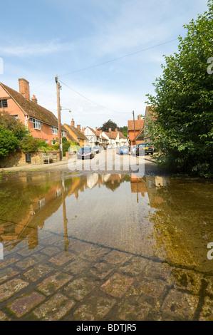 Ford Kersey Village Suffolk UK - Stock Photo
