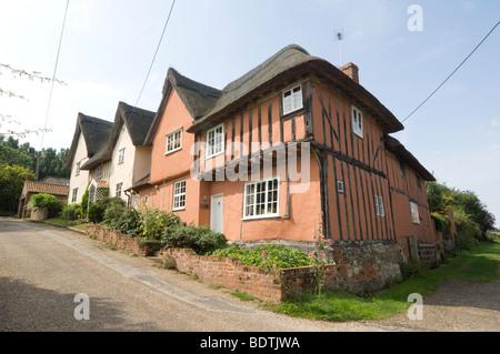 Cottages Kersey Village Suffolk UK