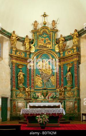 NOTRE DAME CHURCH, ARREAU, HAUTES PYRENEES, FRANCE - Stock Photo