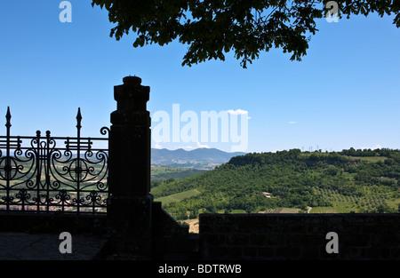 Italy,Umbria,Orvieto,view from the Albornoz fortress