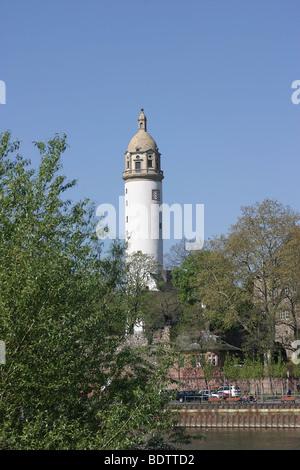 lighthouse, leuchtturm, frankfurt hoechst am main, hessen, deutschland, hesse, germany - Stock Photo