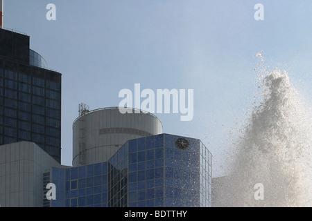 well, fountain, frankfurt am main, hessen, deutschland, frankfurt on the main, hesse, germany - Stock Photo