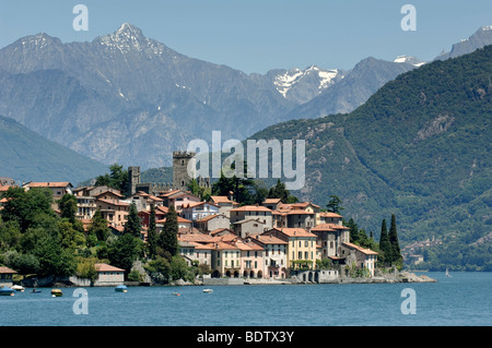 Santa Maria Rezzonico, Lake Como, Lombardy, Italy, Europe - Stock Photo