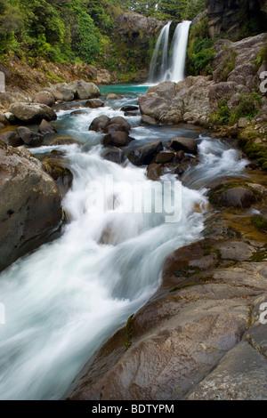 Tawhai Falls, Tongariro National Park, North Island, New Zealand - Stock Photo