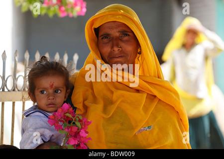 rajasthanis in rajasthan, indien, india - Stock Photo
