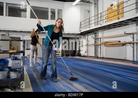 scene painter, bielefeld, germany - Stock Photo