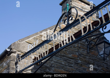 Eingang, entrance, highland park distillery in kirkwall, orkney islands, scotland - Stock Photo