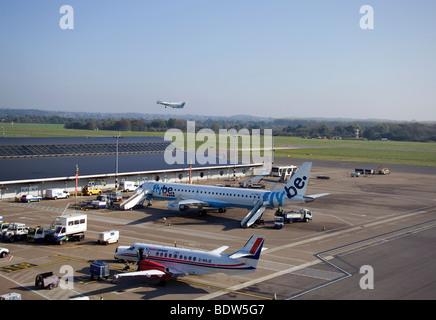 Eastleigh Airport Southampton England - Stock Photo