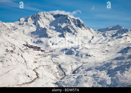 french alps val thorens view aiguille de peclet the. Black Bedroom Furniture Sets. Home Design Ideas