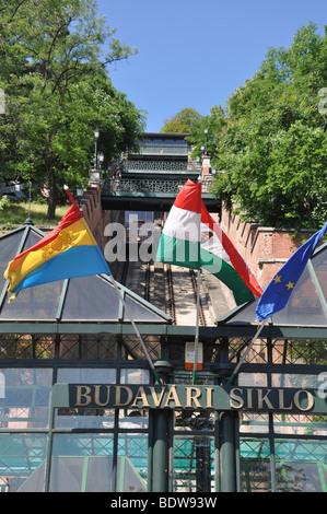 Eastern Europe, Hungary, Budapest, Budapest Castle Funicular - Stock Photo