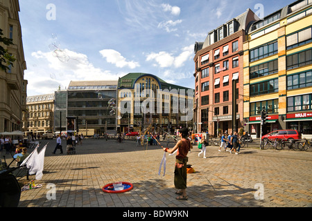New Promade, square at S-Bahn station Hackescher Markt, Mitte, Berlin, Germany, Europe - Stock Photo