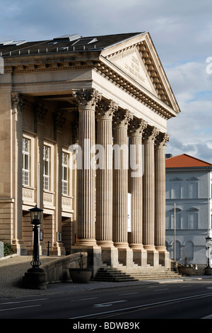 Meininger Theater, last neoclassical theater in Germany, Rhoen, Meiningen, Thuringia, Europe - Stock Photo