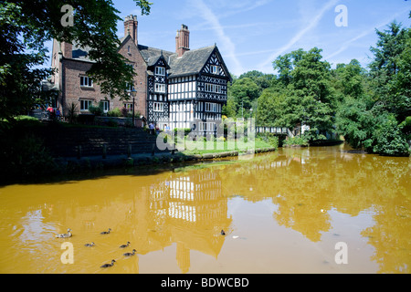 The Bridgewater canal at Worsley in the North West of England - Stock Photo