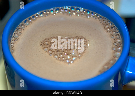 Cafe-au-lait with a heart - Stock Photo