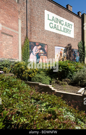 Exterior of the Laing Art Gallery in Newcastle upon Tyne. - Stock Photo