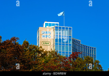 Headquarters of the World Intellectual Property Organization, WIPO, and of the International Union for the Protection - Stock Photo