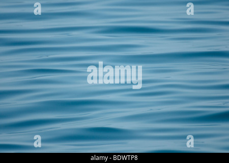 Patterns in rippled sea surface on a calm day. - Stock Photo